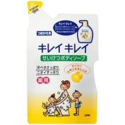 Lion Kireikirei | Body Shampoo | WAKUWAKU Lemon & Orange Refill 420ml