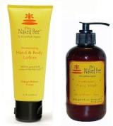 Naked Bee 200ml Lotion and 240ml Handwash Orange Blossom Honey Set