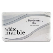 White Marble Deodorant Soap Bar, Individually Wrapped, White, 70ml Bar - 200 bars of soap per case, 70ml bar size.