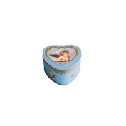 Heart Soap in Tin Box with Thinking Angel