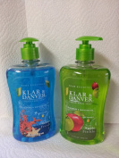 Klar & Danver Liquid Pump Hand Soap Combo - Ocean Fresh & Apple Fields - 440mls Each