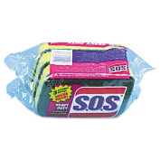 S.O.S. Heavy-Duty Powdered Hand Soap, Unscented Powder, 5lb Box - 24 scrubber sponges.