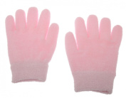Lotion Gloves(feather yarn) Gel-Lined Moisturising Gloves, 1 Pair - Pink SPA Gloves