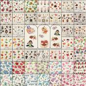 5pcs Nail Art Decal Stickers Tips Wraps Decoration Random Style