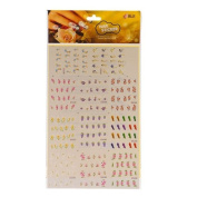 Colourful Flower Feather Nail Art Stickers Water Transfer Stickers