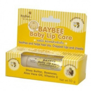 Baybee , lip care for baby (10ml tube) , Petroleum free , Soothes and helps heal dry , Chapped lips and cheeks , Ingredient of Shea Butter , Beeswax , Aloe Vera Oil and Vitamin E