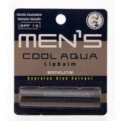 Mentholatum Men's Cool Aqua Lip Balm Spf 15 with Aloe Extract 3.5g. 5ml