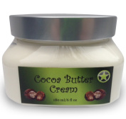 Organic Cocoa Butter Cream For Face And Body- Reduces Stretch Marks, Wrinkles, Dark Circles, Cracked Skin, Cellulite. This Moisturising Cream Will Heal & Nourish With All Natural, Organic And Unique Formula Body Lotion With Shea Butter, Avocado Oil, Gr ..