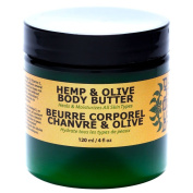Hemp & Olive Body Butter - Natural Rich Hemp Body Butter That Melts on Contact with Skin and Penetrates Deep to Heal and Moisturise - With Natural Hemp, Olive and Coconut Oil, 4oz 120ml