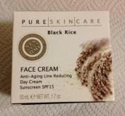 Pure Skin Care, Black Rice Face Cream Anti-ageing Line Reduction Day Cream Sunscreen Spf15