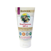 Badger Zinc Oxide Sunscreen Cream SPF 15 Unscented