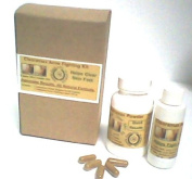 Clearamax Acne Support Kit (All Natural 3 Months Supply). 120m Powderl or 60 Capsulse & Topical Liquid 90ml