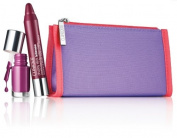 Clinique Chubby Stick and Nail Mini Set Paired In Purple