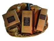 Olio di Argan 3 pc Skin Care Gift Set featuring 24 Hour Protection Cream, Beauty Elixir & Toning Cleanser