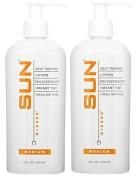 SUN LABORATORIES Self Tanning Lotion Tan Overnight - Medium (240ml) - 2 Pack