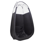 Airbrush Tanning Tent Black Pop Up Sunless Tanning Booth with Clear Top