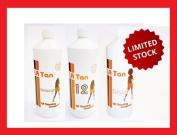 La Tan Tanning 3 X 250ml Bottles 12%, 14% & 14% Disco Dha Original Dark Trial Spray Solution