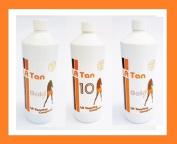 La Tan Tanning 3 X 250ml Bottles 8% & 10% Gold and 10% Dha Original Fair to Medium Trial Spray Solution