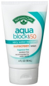 Nature's Gate Aqua Block Sunscreen Lotion, Very Water Resistant, Fragrance-Free, SPF 50, 120ml Tubes