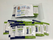 Sunx30+ Sunscreen, 10 Multipackets/unit Lotion and Towelette Set