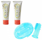 Jack N' Jill Natural Toothpaste 50ml 2-Pack PLUS Finger Toothbrush