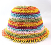 Jeanne Simmons Colour Band Woven Straw Girls Hat