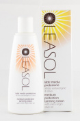 Oleasol Medium Protection Tanning Lotion with Organic Extra Virgin Olive Oil for Hydration and Protection