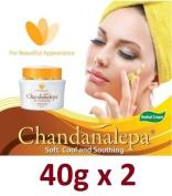 CHANDANALEPA Natural Ayurvedic Herbal Skin Cream 40g x 2