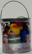 DUCKIES 4TH OF JULY(Beautiful Night Honey Suckle)GIFT CAN