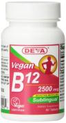 Deva Nutrition Vegan Sublingual B-12 Tablets, 2500 mcg, 90 Count