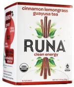 Runa Focused Energy Cinnamon Lemongrass Guayusa Tea, 16-Count Tea Bags