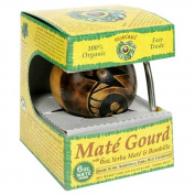 Guayaki Pre-Columbian Gourd Gift Pack with 180ml of Loose Yerba Mate