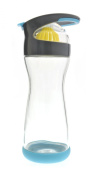 Full Circle Wherever Water Lemon Water On-the-Go Glass Bottle 590ml, Blueberry, FC12501B