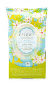 Pacifica Malibu Lemon Blossom Hand & Body Lotion Wipes 30 Ct