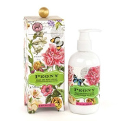 Michel Design Works Hand and Body Lotion, Peony, 8 Fluid Ounce