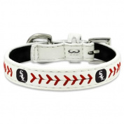 MLB Chicago White Sox Classic Leather Baseball Dog Collar