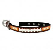 NCAA Clemson Tigers Classic Leather Football Collar, Small