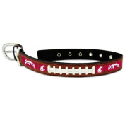 NCAA Washington State Cougars Classic Leather Football Collar, Large