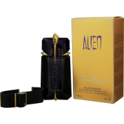 Thierry Mugler Eau de Parfum Spray Refillable and Leather Bracelet for Women, Alien, 60ml