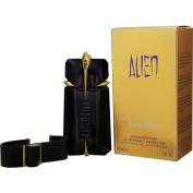 Thierry Mugler Eau de Parfum Spray Refillable and Leather Bracelet for Women, Alien, 60ml