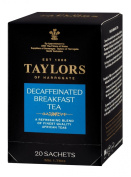 Taylors of Harrogate, Black Tea, Decaffeinated Breakfast Tea, 20 Count Wrapped Tea Bag