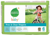 Seventh Generation Free & Clear Nappies, Stage 6, 35 Plus Pounds, 20 Count per Pack