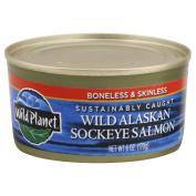 Wild Planet Wild Sockeye Salmon, Skinlees & Boneless, Can, 180ml