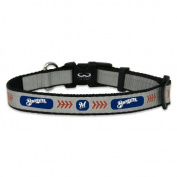 MLB Milwaukee Brewers Baseball Pet Collar, Reflective