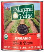 Natural Value 100% Organic Black Beans, 3250ml
