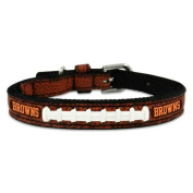 NFL Cleveland Browns Classic Leather Football Collar, Toy