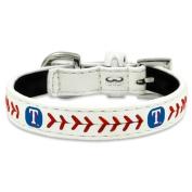 MLB Texas Rangers Classic Leather Baseball Dog Collar