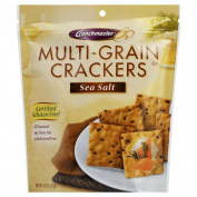 Crunch Master Multi-Grain Crackers Gluten Free Sea Salt -- 130ml