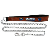 NFL San Diego Chargers Football Leather 2.5mm Chain Leash, Medium