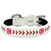 MLB Cincinnati Reds Classic Leather Baseball Dog Collar